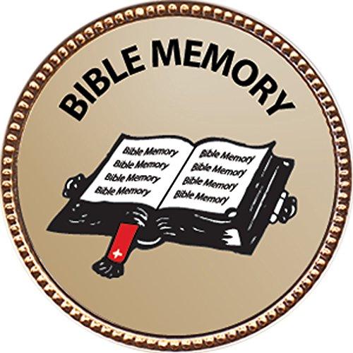 Bible Memory - General Award 1 inch dia Gold Pin Bible Memory Achievements Collection by Keepsake Awards