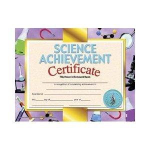 Science Achievement Certificate Set of 30
