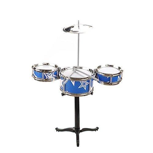 Remeehi Simulation Drum Set Toy Drum Kit for Kids Blue