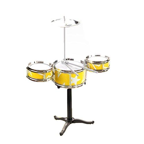 Remeehi Simulation Drum Set Toy Drum Kit for Kids Yellow