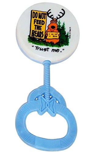 Plastic Baby Rattle - Hand Held Shaker - Blue