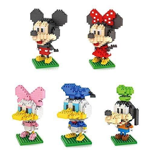5box LOZ Diamond Block Mickey Mouse Donald Duck Micky Minny Goofy Toys 1190pcs Parent-child Games Building Blocks Childrens Educational Toys