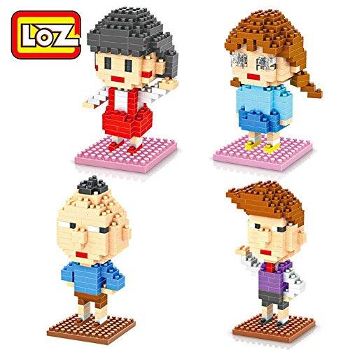 LOZ 4 Box Diamond Blocks Sakura Momoko Nano Compatible Nano Block Parent-child Games Building Blocks Childrens Educational Toys