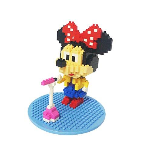 Minnie Mouse Diamond Nano-Blockmini blocks Singing Minnie Mouse317Pcs Parent-child Games Building Blocks Childrens Educational Toys New - Christmas gift