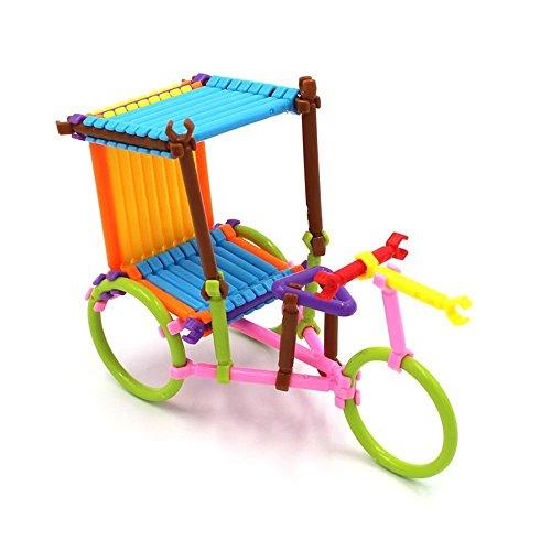 Oxeanus 500PCS Educational Toys Smart Stick Plastic Building Blocks for Children Kindergarten Assembling Safe puzzel Toy