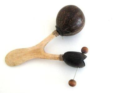 Maracas Hand Drum Shaker Rattle Coconut Shell Maracas Instrument- JIVE BRAND