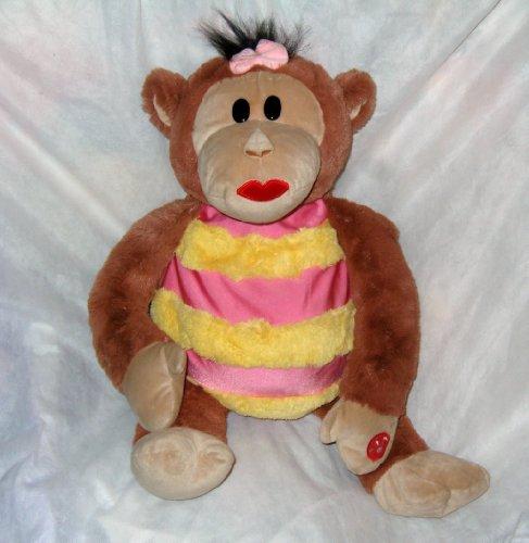 Mushabelly Chatter Lila ~ Large 18 inch Plush Floppy Monkey