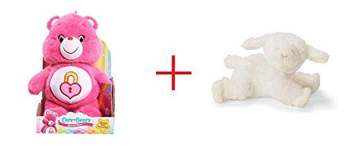 Care Bear Medium Plush with DVD - Secret Bear and Gund Winky the Lamb Rattle - Bundle