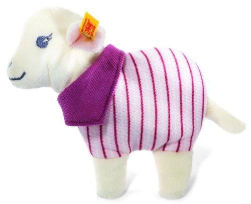 Steiff Leni Lamb Rattle White Pink