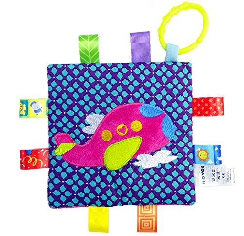 Handmade Teething Cloths 1-Pack by LASLU - Baby Teething Toys  Teething Blanket - Infant Baby Toys(Aircraft)