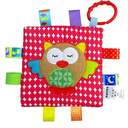 Handmade Teething Cloths 1-Pack by LASLU - Baby Teething Toys  Teething Blanket - Infant Baby Toys  Owl