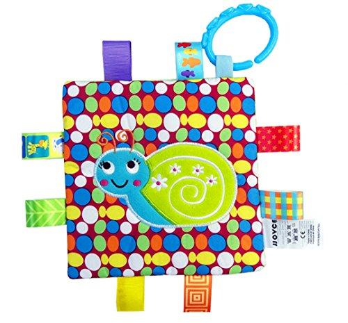 Handmade Teething Cloths 1-Pack by LASLU - Baby Teething Toys  Teething Blanket - Infant Baby Toys  Snail