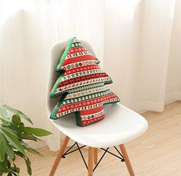 Christmas Tree Shape Cotton Toys Novelty Stuffed Pillows Decorative Pillow Cushion Car Cushions