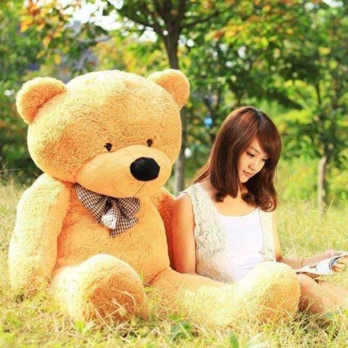 GIANT 120CM 47 BIG Brown PLUSH STUFFED TEDDY BEAR SOFT COTTON TOY Popular Cute