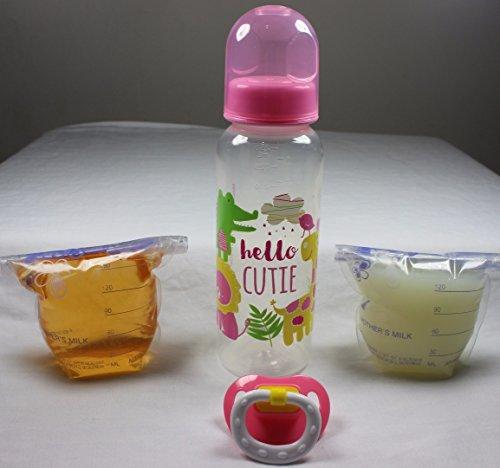 Reborn Pacifier Bottle Fake Formula Milk Apple Juice Baby OOAK Girl Doll Set