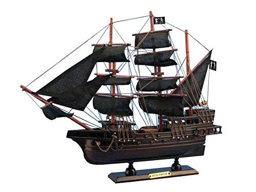 Black Barts Royal Fortune 14 - Wooden Pirate Ship - Model Pirate Ship - Pira