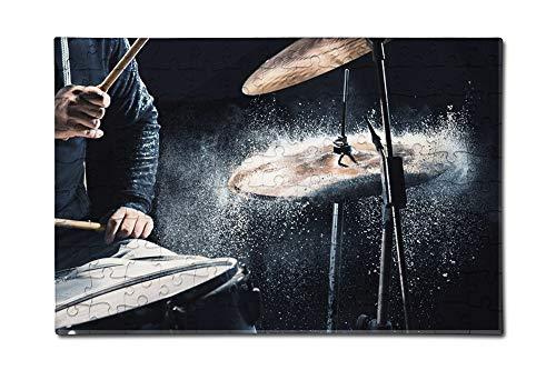 Drummer Drumming Music A-9004548 12x18 Premium Acrylic Puzzle 130 Pieces
