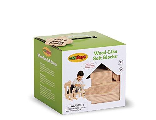 Edushape Wood-Like Soft Blocks Wood 30-Piece