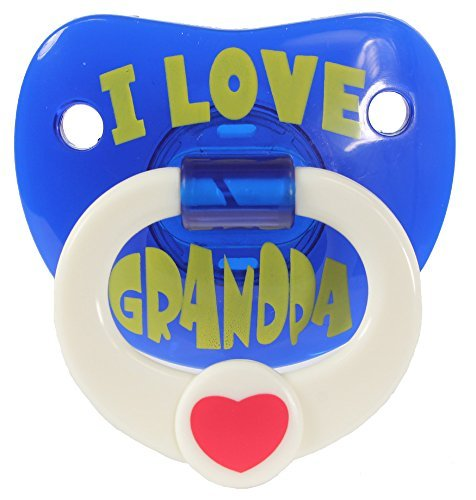 Billy bob Funny Novelty Dummies Pacifiers I Love Grandpa by Billy Bob Pacifiers