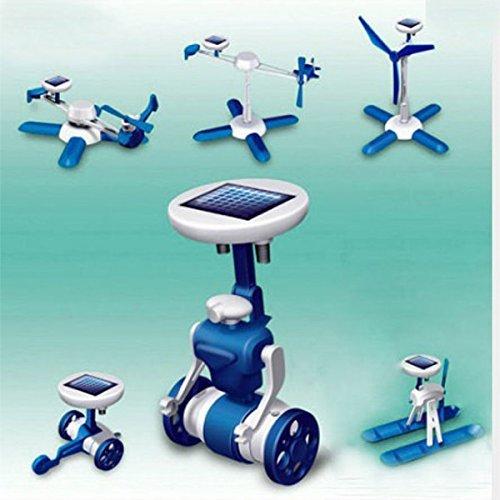 6 IN 1 Solar Toy DIY Robots Plane Educational Kid Gift Creative