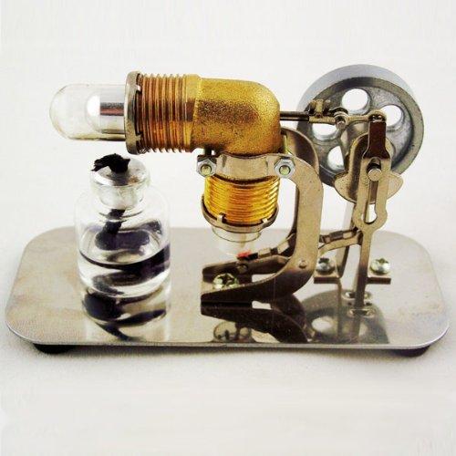 Mini Hot Air Stirling Engine Motor Model Educational Toy Kits