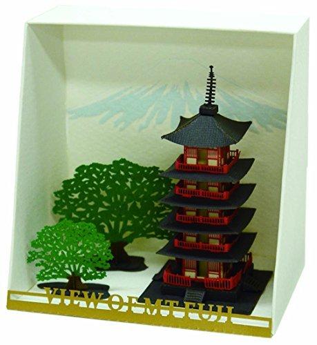 Nanoblock Paper Nano - Five Story Pagoda Model Kit Model 58601 Toys Play