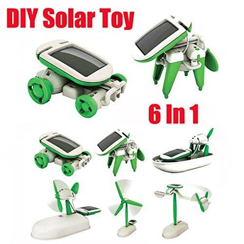 New New 6 In 1 Educational Solar Toys Kit Robot Chameleon