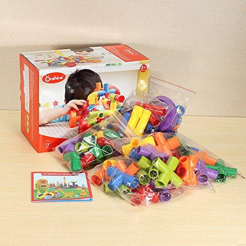 Onshine 72PCS Assembling Pipe Blocks Assembled DIY Toys