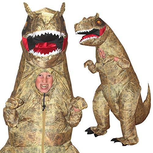 Kids Jurassic Inflatable Dinosaur T-Rex Fancy Dress Costume