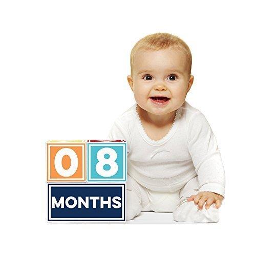 Sticky Bellies Brag Blocks- Baby Age Blocks - Neutral - Girls - Boys - 3 styles available Boy by Sticky Bellies