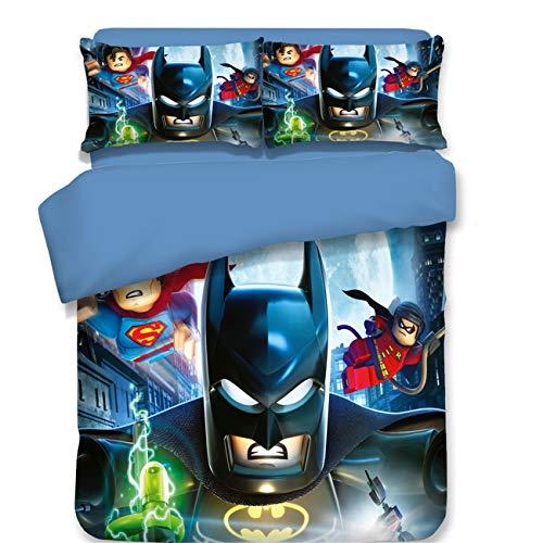 AMTAN 3D Batman Duvet Cover for Kids Superhero Series Batman Print Bedding Super Soft and Comfortable for Boys Girls Bed Set 3 Pieces 1 Duvet Cover2 Pillowcase King Size