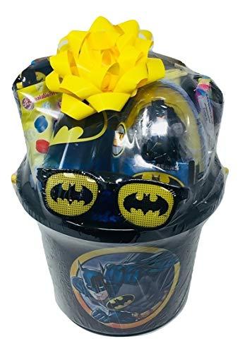 Batman Gift Set Bundle with Batman Miniature Action Figure Batman Coloring Book Batman Stickers Batman Play Pack Batman Water Bottle More
