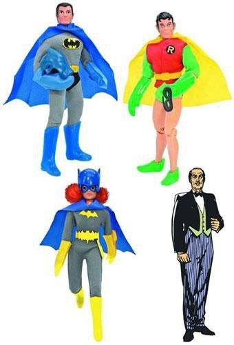 Batman Retro 8-In Series 3 Set of 4 Action Figures Batman Robin Batgirl Alfred
