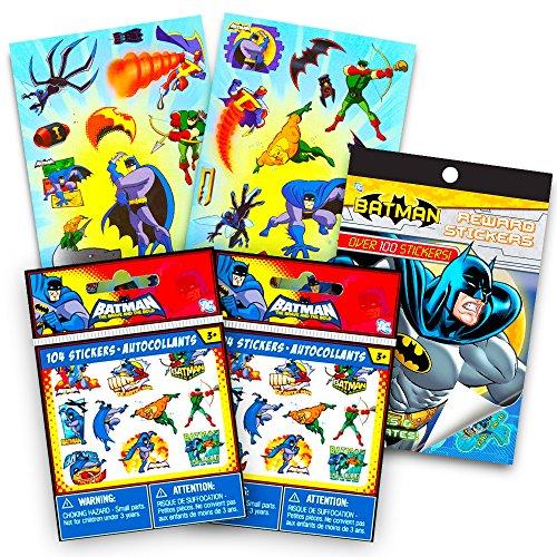 DC Comics Justice League Batman Stickers Set ~ Over 350 Stickers Featuring Batman Robin Aquaman and More Ultimate Batman Set