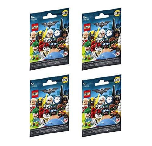 LEGO Minifigure Batman Series 2 - New Sealed Blind Bags - Random Set of 4 71020
