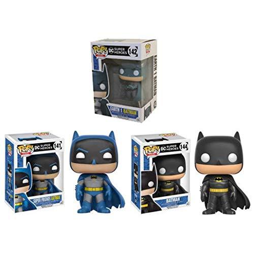 Pop Heroes DC Heroes Super Friends Batman Earth 1 classic black suit Batman Set of 3