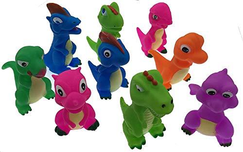 Playmaker Toys Rubber Dinosaur Family Bathtub Pals - Floating Bath Tub Toy 3 Set Assortment May Very