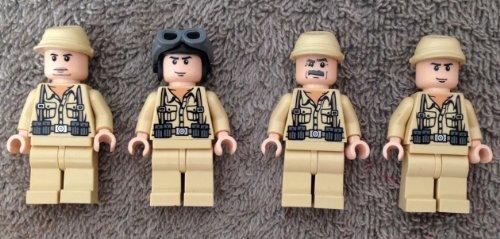 German Soldiers set of 4 Indiana Jones Lego Minifigures