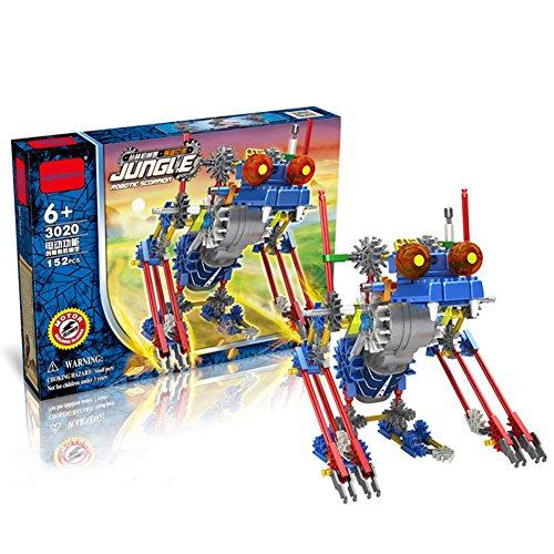 HAHAone robotics building sets science toys for boy kids  Assembly Building Blocks Bricks Robot DIY Toy KitBattery Motor Operated 3D Puzzle Design Alien Primate Robot Figure