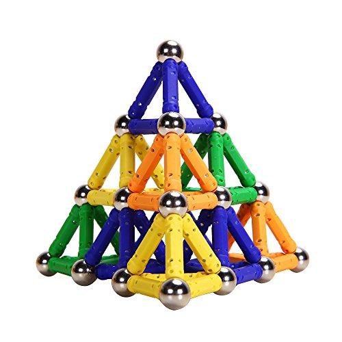 PlayMaty Magnetic Building Blocks Toys 100 Piece Similar Building Kit Toys Playing Magnetic Toy Bricks