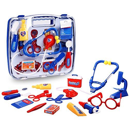 eshion Children Educational Toys Kit Doctor Nurse Medical Kit Pretend Play Set Toy Blue