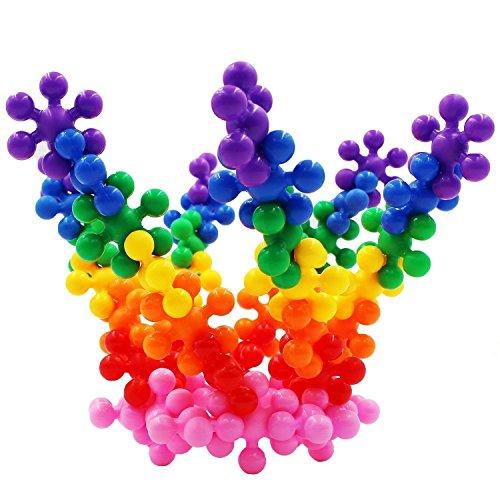 Extpro Plum Blossom Shape Building Bricks Interlocking Toy Sets Educational Blocks for Kids 3 yr and up