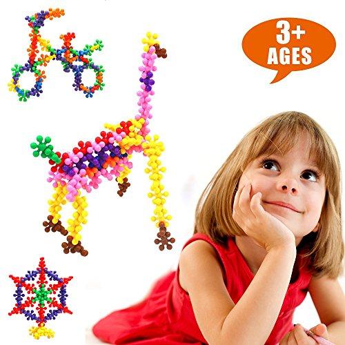 LIGHTDESIRE Plum Blossom Building Blocks Puzzle Toys 120pcs Shape Interlocking Souptoys Toy