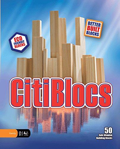 CitiBlocs 50-Piece Natural-Colored Building Blocks