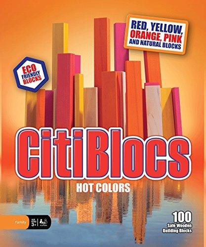 CitiBlocs Hot-Colored Building Blocks 100-Piece by Citiblocs