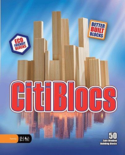 CitiBlocs Natural-Colored Building Blocks 50-Piece by Citiblocs
