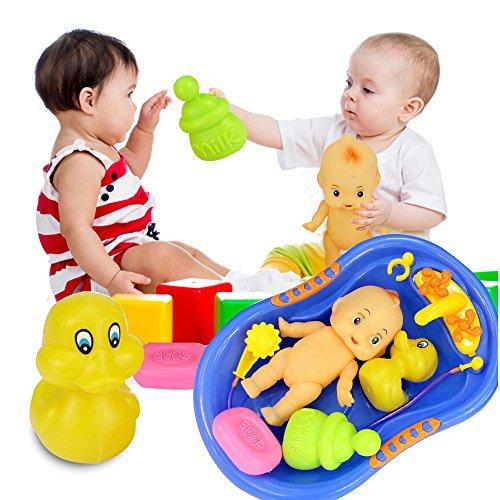 7 pcs Bathub Toys Floating Cartoon Kids Doll Toy Tub Pool