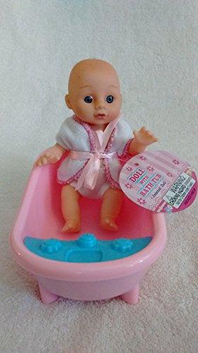 Baby doll with bathtub
