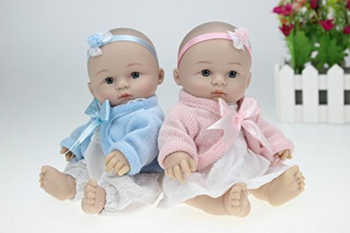 98 Silicone Mini Baby Twins Doll Soft Body Full Body Silicone Toys