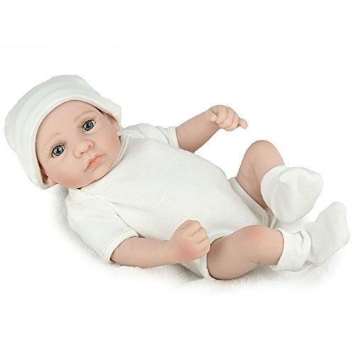 Kaydora 10 inches Mini Full Silicone Vinyl Washable Lifelike Real Reborn Baby Boy Dolls Soft Body Play Doll Realistic Toys Gifts